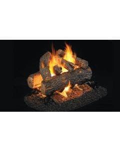 Peterson Real Fyre See Through Vented Gas Log Set - Golden Oak Designer Plus - ANSI