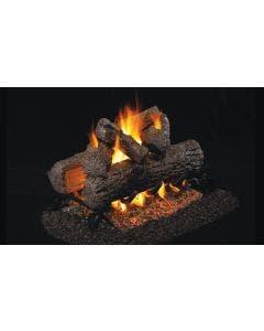 Peterson Real Fyre See Through Vented Gas Log Set - Golden Oak - ANSI