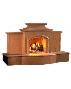 American Fyre Designs Grand Mariposa 113-Inch Vent-Free Outdoor Fireplace