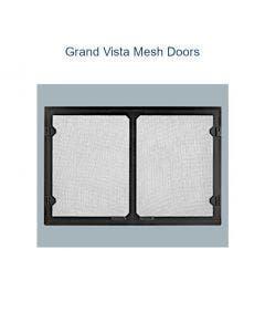 Majestic Grand Vista Cabinet Style Mesh Doors - Black - Biltmore 42 inch