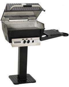 Broilmaster H3X Natural Gas Grill On Black Deck Mount Base with Optional Conversion Kit - H3PK3N / BCK1011