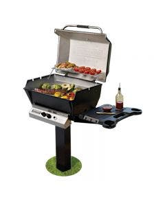 Broilmaster H4X Natural Gas Grill On Black In Ground Post with Optional Conversion Kit - H4PK2N / BCK1011