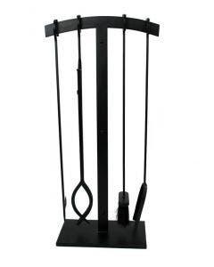 Enclume 4 Pc Arch Top Fireplace Tool Set Black- HFPTS3 BK