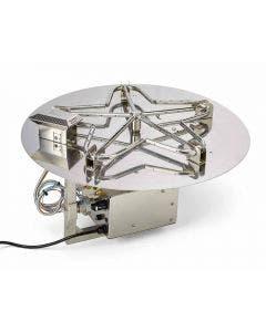 HPC 30-Inch Electronic Ignition Flat Pan Gas Fire Pit Kit - PENTA30EI