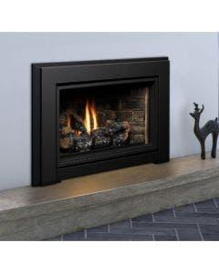 Kingsman Gas Direct Vent Fireplace Insert - Porcelain reflective liner