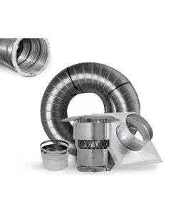 Ventis 6-Inch Pre-Insulated Chimney Liner Kit With Appliance Connector- K5A6PI