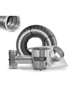 Ventis 6-Inch Pre-Insulated Chimney Liner Kit With Tee - K5T6PI