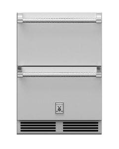 Hestan 24-Inch 5.2 Cu. Ft. Outdoor Rated Refrigerator Drawers - GRR24