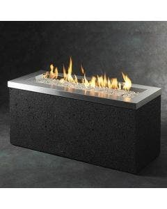 The Outdoor Greatroom Stainless Linear Key Largo Gas Fire Pit Table - KL-1242-SS