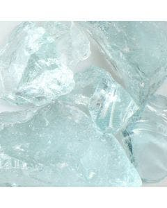 American Specialty Glass - Fire Glass - Crystal Teal - 1/2 Inch to 1 Inch