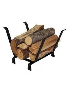 Enclume Indoor Outdoor Basket Fireplace Log Rack Black FInish - LR13 BKT