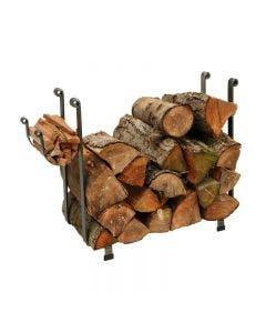 Enclume Large Rectangle Fireplace Log Rack Hammered Steel Finish - LR1A HS