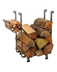 Enclume Rectangle Fireplace Log Rack Hammered Steel Finish - LR1B HS