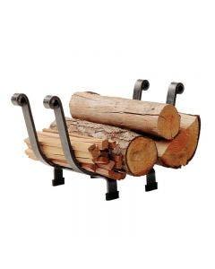 Enclume Premier Basket Fireplace Log Rack Hammered Steel Finish - LR9 HS