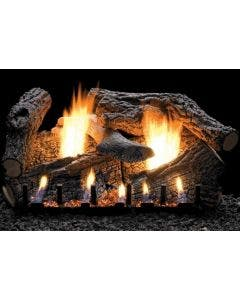 Empire Vent-Free Super Charred Oak Ceramic Fiber Log Set 24 inch