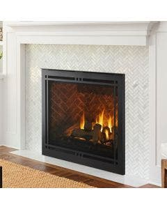 Majestic 42-Inch Meridian Platinum Gas Direct Vent Fireplace- MERIDPLA42