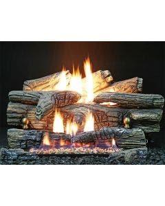 Buck Stove Ember Vision Pine Vent Free Gas Log Set