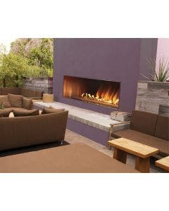 Empire Outdoor 48 Inch Stainless Steel Linear Fireplace and Fire Glass - OLL48FP12S / DG1