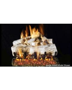 Peterson Real Fyre See Through Vented Gas Log Set - Mountain Birch