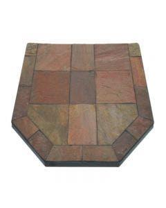 Diamond Hearths Standard Or Corner Hearth Pad - Polished Bronze Slate