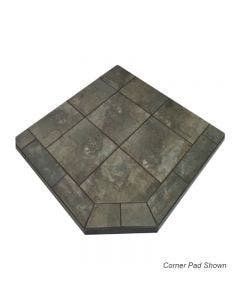 Diamond Hearths Standard Or Corner Hearth Pad - Najavo Nero