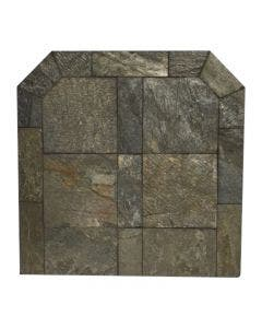 Diamond Hearths Standard Or Corner Hearth Pad - Natural Silver Slate