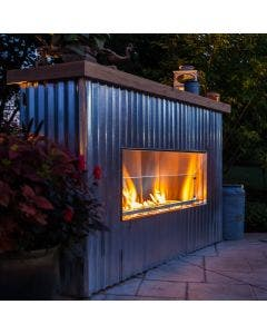"Firegear Outdoor 36"" Kalea Bay Outdoor Gas Fireplace - OFP-36LECO-N"