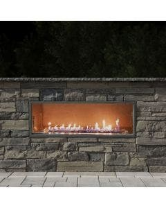 "Firegear Outdoor 48"" Kalea Bay Outdoor Gas Fireplace - OFP-48LECO-N"