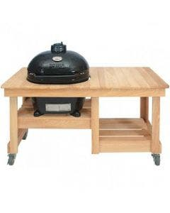 Primo Oval JR 200 Kamado with Cypress Table Options