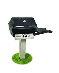 Broilmaster P3X Natural Gas Grill On Stainless Steel In Ground Post with Optional Conversion Kit - P3PK6N / BCK1011