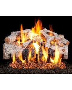 Peterson Real Fyre Charred Mountain Birch Vented Gas Logs - CHMBW-18 / CHMBW-24 / CHMBW-30