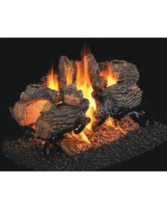Peterson Real Fyre Charred Oak See Through Vented Gas Logs - CHD-2-18 / CHD-2-24 / CHD-2-30