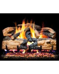 Peterson Real Fyre Charred Evergreen Split Oak Vented Gas Logs - ENS-18 / ENS-24 / ENS-30