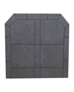 Diamond Hearths Standard Or Corner Hearth Pad - Pewter