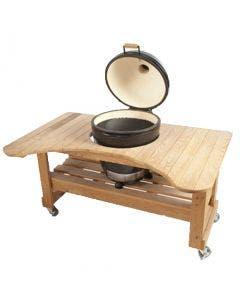 Primo Round Charcoal Kamado with Cypress Table - PRM771 / PRM601