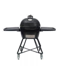 Primo All-In-One Oval JR 200 Ceramic Kamado Grill With Shelves - PRM7400
