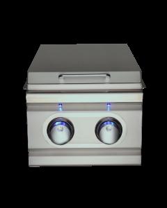 RCS Cutlass Pro Slide-In Stainless Steel Double Side Burner With Blue LED - RDB1EL/RDB1ELLP