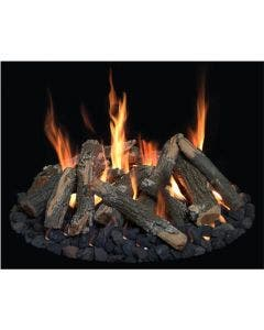 """Grand Canyon Gas Logs 18"""" - 48"""" Round Flat Fire Pit Burner Kit With Logs"""