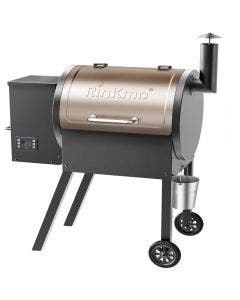 RINKMO 8-In-1 Wood Pellet Grill and Smoker PID Controller Outdoor BBQ Grill - NB-BQ15