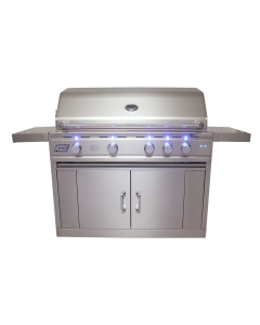RCS Cutlass Pro 42-Inch Freestanding Gas Grill With Rear Infrared Burner & Blue LED Lights - RON42A/RONJC/RON42ALP - Front View