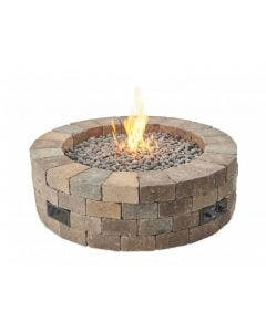 The Outdoor GreatRoom Company Bronson Round DIY 52-Inch Gas Fire Pit Kit - BRON52-K