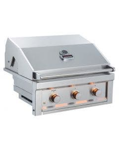 Sunstone Ruby 30-Inch 3 Burner Pro-Sear Built-In Gas Grill - Ruby3B- Hood Closed- Front View