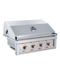 Sunstone Ruby 36-Inch 4 Burner Pro-Sear Built-In Gas Grill - Ruby4B- Hood Closed- Front View