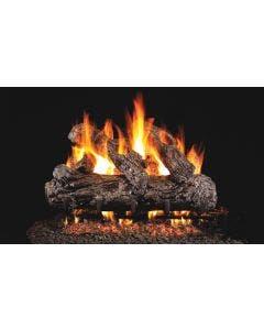 Peterson Real Fyre Vented Gas Log Set - Rustic Oak - Stainless Steel