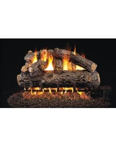 Peterson Real Fyre Vented Gas Log Set - Rustic Oak Designer ANSI