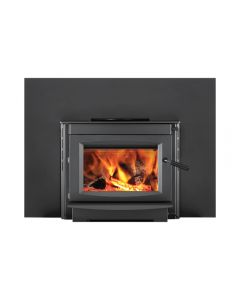 Napoleon Wood Burning Insert With Blower And 41-Inch x 30-Inch Backerplate - S20i