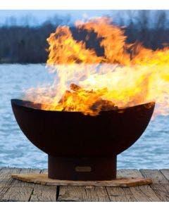 Fire Pit Art Wood Fire Pit- Scallops