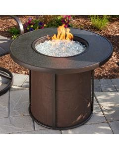 The Outdoor Greatroom Stonefire 31 Inch Round Gas Fire Pit Table