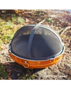 Fire Pit Art Fire Pit Spark Guard - 34.5 Inch With Handles On The Side