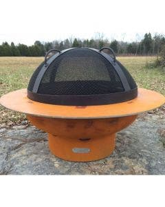 Fire Pit Art Fire Pit Spark Guard - 34.5 Inch With Handles On Top